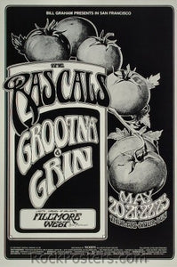 BG281 - Rascals Poster - Fillmore Auditorium (20-May-71) Condition - Near Mint