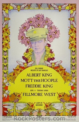 BG283 - Albert King Poster - Fillmore Auditorium (03-Jun-71) Condition - Excellent