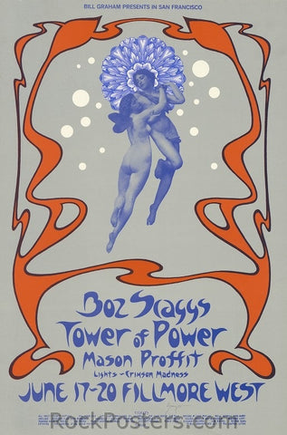 BG285 - Boz Scaggs Poster - Fillmore Auditorium (17-Jun-71) Condition - Excellent