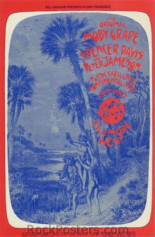 BG286 - Moby Grape Poster - Fillmore Auditorium (24-Jun-71) Condition - Excellent