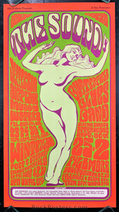 "AUCTION - BG29 - Jefferson Airplane Muddy Waters ""The Sound"" 1966  Poster - Fillmore & Winterland - Condition - Near Mint Minus"