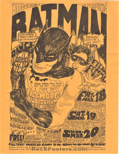 AUCTION - BG2 - Batman Quicksilver 1966 Handbill - Fillmore Auditorium - Condition - Excellent