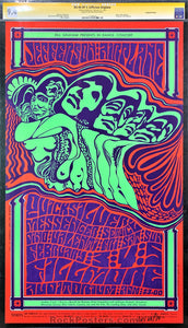 BG-48 - Jefferson Airplane Poster - Wes Wilson Signed - Fillmore Auditorium - Condition - CGC Graded 9.4