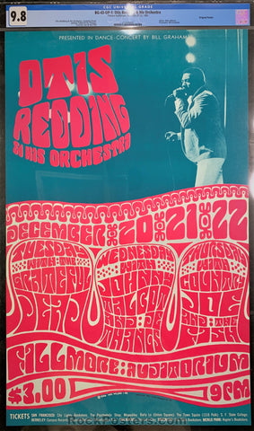 BG-43 - Otis Redding Poster - Fillmore Auditorium - Condition - CGC Graded 9.8