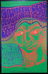 AUCTION - BG45 -  Grateful Dead Doors 1967 Original Poster - Fillmore Auditorium - Condition - Mint