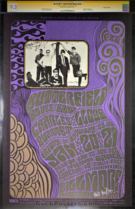 AUCTION - BG46 - Butterfield Blues Band Wes Wilson Signed Poster - Fillmore Auditorium - Condition - CGC Graded 9.2
