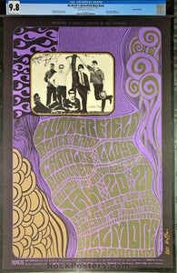 BG-46 - Butterfield Blues Band Poster - Wes Wilson Signed - Fillmore Auditorium - Condition - CGC Graded 9.8