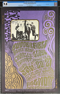 BG-46 - Butterfield Blues Band - 1967 Poster - Wes Wilson Double Signed - Fillmore Auditorium - CGC Graded 9.8