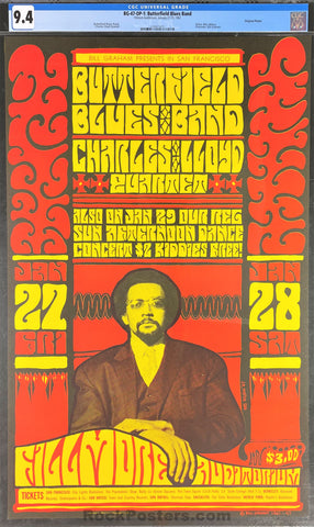 BG-47 - Butterfield Blues Band - 1967 Poster - Fillmore Auditorium - CGC Graded 9.4