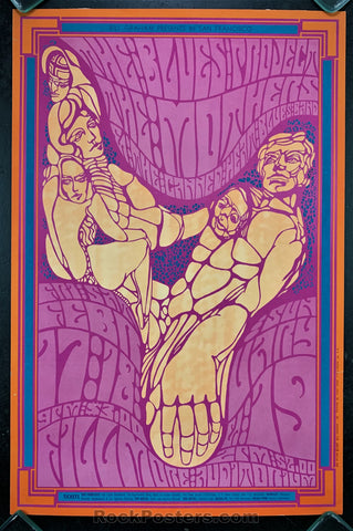 AUCTION - BG50 -  Frank Zappa Mothers 1967 Original Poster - Fillmore Auditorium - Condition - Very Good