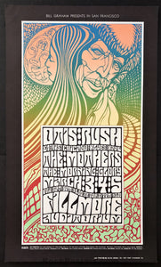 AUCTION - BG-53 - The Mothers/Otis Rush - Wes Wilson - 1967 Poster - Fillmore - Excellent