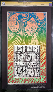 AUCTION - BG53 - Otis Rush Wes Wilson Signed Poster - Fillmore Auditorium - Condition - GCG Graded 9.2