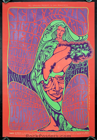AUCTION - BG54 - Jefferson Airplane Blues 1967 Original Poster -  Fillmore/Winterland - Condition - Excellent