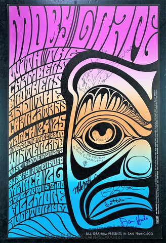 AUCTION - BG56 -  Multi Band SIGNED Concert Poster  - Fillmore & Winterland - Condition - Excellent