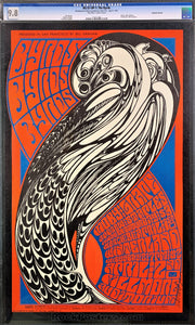 BG57 - The Byrds Wes Wilson Signed Poster - Fillmore Auditorium - Condition - CGC Graded 9.8