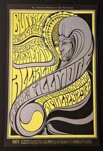 AUCTION - BG-61 - Buffalo Springfield - 1967 Poster - Fillmore Auditorium - Mint