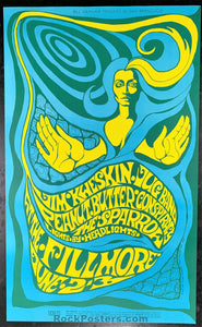 AUCTION - BG66 - Jim Kweskin 1967 Poster - Fillmore Auditorium - Condition - Near Mint
