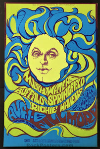 AUCTION - BG-76 - Buffalo Springfield - Bonnie MacLean - 1967 Poster - Fillmore - Excellent
