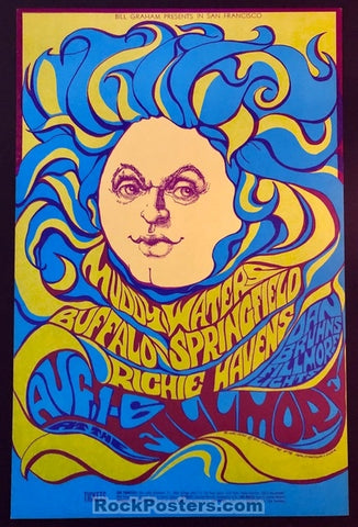AUCTION - BG-76 - Buffalo Springfield 1967 Poster - Bonnie MacLean - Fillmore - Near Mint