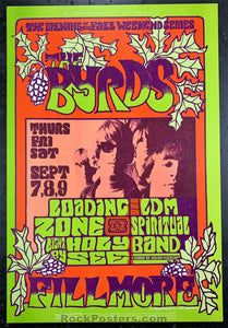 AUCTION - BG82 - The Byrds  Poster - Fillmore Auditorium - Condition - Mint