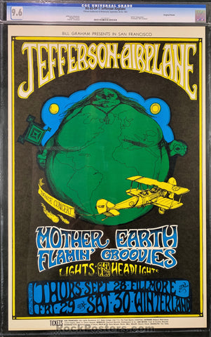 AUCTION - BG-85 - Jefferson Airplane 1967 Poster - Fillmore Auditorium - CGC Graded 9.6