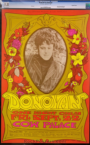 BG86 - Donovan Poster - Cow Palace - Condition - CGC Graded 9.8