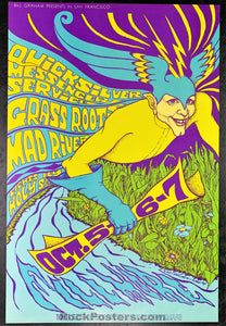 AUCTION - BG87 - Quicksilver 1967 Poster - Fillmore Auditorium - Condition - Near Mint