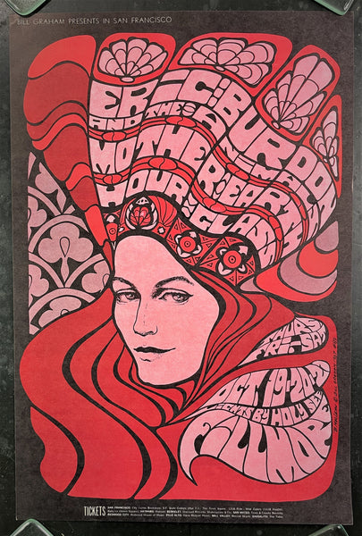 AUCTION - BG-89 - Eric Burdon and the Animals - 1967 Poster - Fillmore Auditorium - Near Mint Minus