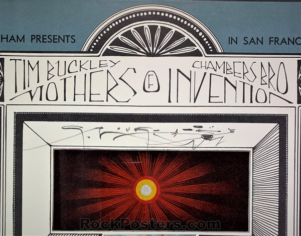 AUCTION - BG-97 - Mothers of Invention - 1967 Poster - Mouse Signed - Fillmore Auditorium - CGC 9.4