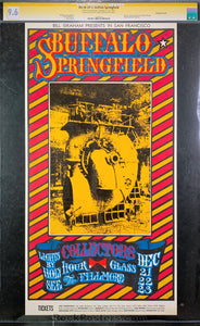 BG98 - Buffalo Springfield Signed Poster - Fillmore Auditorium - Condition - CGC Graded 9.6