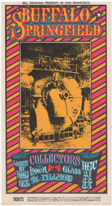 BG-98 - Buffalo Springfield Postcard - Fillmore Auditorium - Near Mint Minus