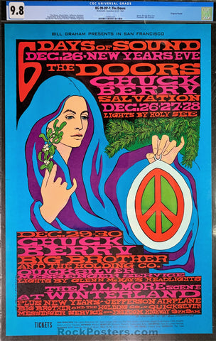 BG-99 - The Doors Jefferson Airplane Poster - Fillmore Auditorium - CGC Graded 9.8