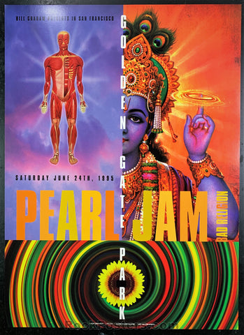 BGP-120 - Pearl Jam Poster - Golden Gate Park - Condition - Near Mint Minus
