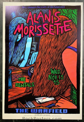 BGP-133 - Alanis Morissette Poster - Warfield Theater - Condition - Near Mint
