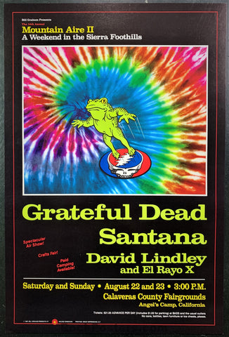 BGP-17 - Grateful Dead Santana 1987 Poster - Mountain Aire II - Near Mint Minus