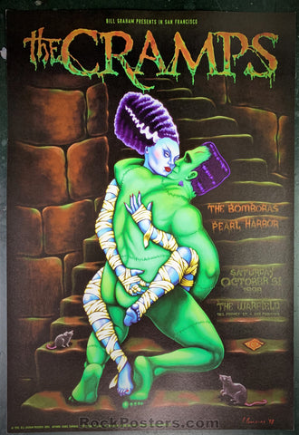 BGP-203 - The Cramps Halloween '98 Poster - Warfield Theater - Near Mint Minus