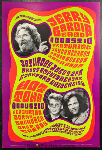 BGP-23 - Jerry Garcia Band Hot Tuna 1988 Poster - Frost Amphitheater - Near Mint Minus