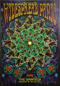 BGP-241 - Widespread Panic Poster - Band Signed - Warfield Theater - Excellent