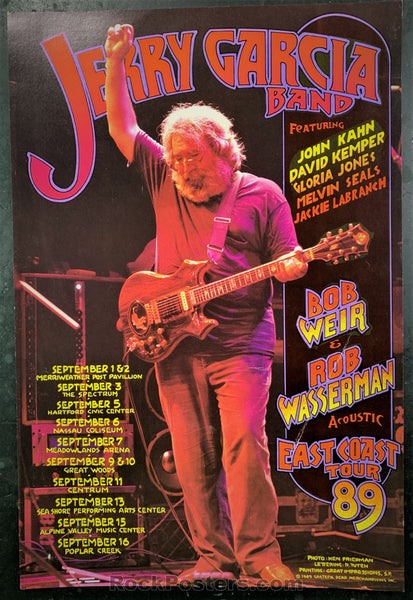 BGP-24 Alternate - Jerry Garcia Band 1989 Poster - East Coast Tour - Excellent