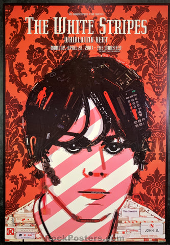BGP-300 - The White Stripes Poster - Warfield Theater - Condition - Near Mint Minus