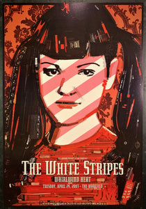 BGP-301 - White Stripes Poster - Warfield Theater - Condition - Near Mint Minus