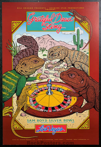 BGP-76 - Grateful Dead Sting - 1993 Poster - Sam Boyd Stadium - Near Mint Minus