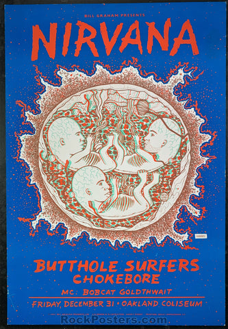 BGP-90 - Nirvana New Years Eve '93 Poster - Cow Palace - Excellent