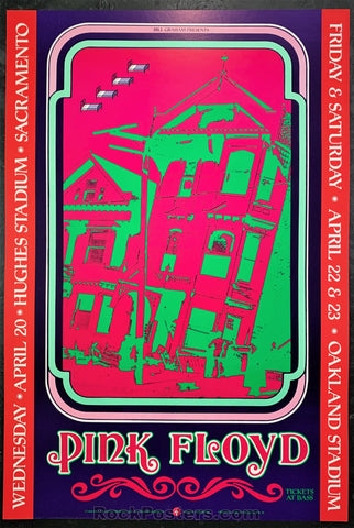BGP-22 - Pink Floyd Poster - Hughes & Oakland Stadium - Condition - Near Mint Minus