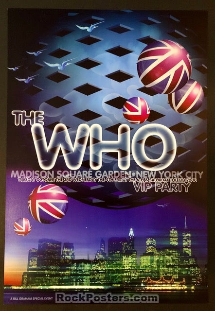 AUCTION - BGPSE-26 - The Who Rex Ray - Madison Square Garden - Mint