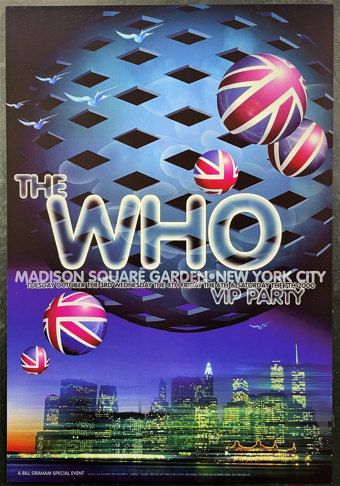 BGSE-26 - The Who - 2000 Poster - Madison Square Garden - Mint