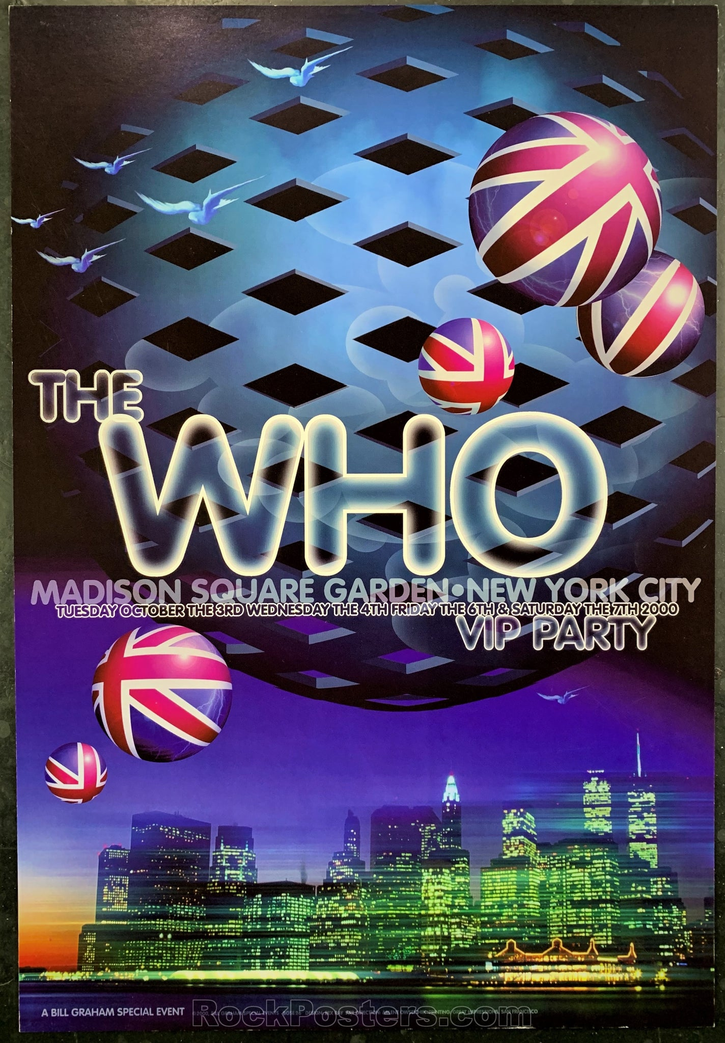BGSE-26 - The Who Poster - Madison Square Garden - Condition - Near Mint Minus