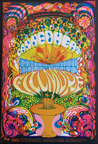 AUCTION - BG 139  - Canned Heat Gordon Lightfoot Lee Conklin Original  Poster - Fillmore  West - Condition -  Mint & Signed