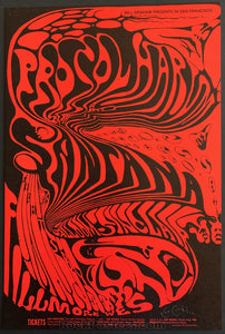 AUCTION - BG143  - Procol Harum Santana Lee Conklin Original Poster - Fillmore West -  Condition - Mint  & Signed