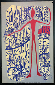 AUCTION - Battle of the Bands - 1967 Original Poster - The Ark - Condition - Very Good